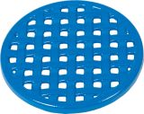 "7 1/4"" Diameter Round Trivet In Blue Enamel Finish"