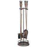 Oil-Rubbed Bronze 4-Piece Tool With Round Base And Gallery Rail