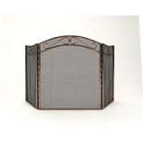 Woodfield 3-Panel, Rubbed-Oil Bronze Fireplace Screen Screen