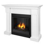 Hillcrest Indoor Ventless Gel Fireplace, White