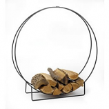 "Woodfield 48"" Black Log Hoop, 1/2"" Steel Bar"