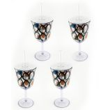 Acrylic Wine Glasses with Lids - Set of Four