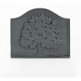 Woodfield Small Oak Cast Iron Fireback, Current Year Date