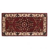"Woodfield Brick Red Oriental Rectangular Rug, Wool, 22"" X 44"""