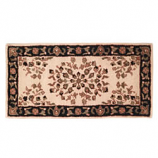 "Woodfield Beige Oriental Rectangular Rug, Wool, 22"" X 44"""