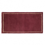 "Mulberry W/Border Contemporary Rectangular Rug, Wool, 22"" X 44"""