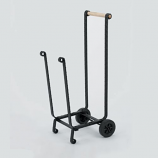 Woodfield Black Wood Cart With Wheels