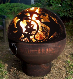 Good Directions FB-4 Oversized Fire Bowl with Orion Fire Dome