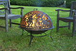 Good Directions FD-2 Fire Pit w/ Moon Party Fire Dome Spark Screen
