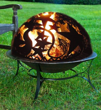 Good Directions FD-3 Fire Pit with Orion Fire Dome Spark Screen