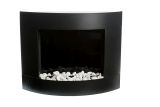 Diamond I Wall mounted Bio-Ethanol Fireplace-Black