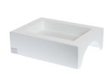 "White Fuego Box for Burner 11.5""- 2qt- No Lip"