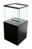 Small Column Free-standing Bio-ethanol fireplace-Black