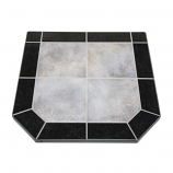 "Night Shadows Tile Stove Board, Double Cut, 40"" x 40"""