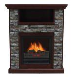 Ashville Electric Fireplace-Chestnut