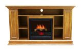 Boston Electric Fireplace- Light Oak Color
