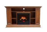 Boston Electric Fireplace-Old Oak Color