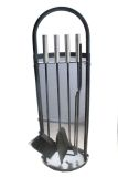 Fireplace Tool Set with Arched Carrier