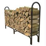 8' Deluxe Log Rack Black