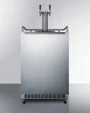 Summit Built-in Under Counter frost-free Fullsize Digital Beer Dispenser SBC677BITWIN