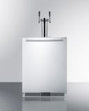 Summit Built-in Frost-Free Beer Dispenser with Dual Tap System