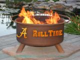 "Alabama State Fire Pit by Patina Products - 24"" Cold Rolled Steel & Rust Finish"