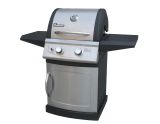 Falcon Series Two-Burner LP Grill with Electronic Ignition - Black Powder