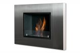Quadra Recessed Ventless Ethanol Fireplace with Front Glass Barrier