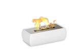 Lia White Tabletop Ventless Ethanol Fireplace