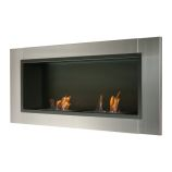 Lata Wall Mounted / Recessed Ventless Ethanol Fireplace