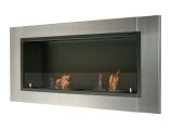 Lata Wall Mounted / Recessed Ventless Ethanol Fireplace with Glass Barrier