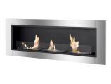 Ardella Wall Mounted / Recessed Ventless Ethanol Fireplace with Glass Barrier