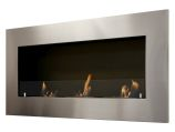Optimum Wall Mounted / Recessed Ventless Ethanol Fireplace with Glass Barrier