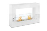 Tectum White Freestanding Ventless Ethanol Fireplace