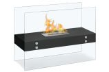 Vitrum H Black Freestanding Ventless Ethanol Fireplace