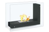 Vitrum L Black Freestanding Ventless Ethanol Fireplace
