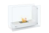 Vitrum L White Freestanding Ventless Ethanol Fireplace