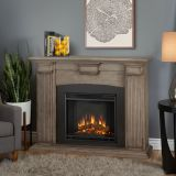 Adelaide Indoor Electric Fireplace, Dry Bush White