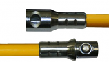 6' Heavy Duty Fiberglass Extension Rod, Torque Lock Connector