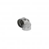 "Aluminum 7"" Flexi-liner 90 Degree Elbow Sectioned Nonadjustable"