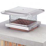 "HomeSaver Pro SS Single-Flue Chimney Cap 3/4"" Mesh"