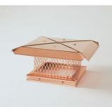 "Gelco Copper Single-Flue Chimney Cap 3/4"" Mesh"