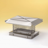 "Gelco Stainless Steel Single-Flue Chimney Cap 5/8"" Mesh"