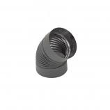 Heat-Fab Black Corrugated Elbow Nonadjustable