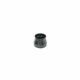 Snap-Lock Black Stove Pipe Reducer Crimp On Large End