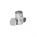 "Aluminum 5"" Selkirk Flexi-liner Tee with 3"" Diameter Take-Off"