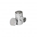 "Aluminum 6"" Selkirk Flexi-liner Tee with 4"" Diameter Take-Off"