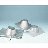 "Secure Temp 6"" Roof Flashing Peak 8/12 - 12/12 Pitch with Storm Collar"