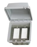 Infratech Duplex Dual Switch with Flush Mount and Gang Box