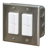 Infratech Duplex Dual Switch with Wall Plate and Gang Box